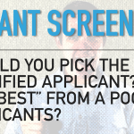 Tenant Screening From a Pool of Applicants